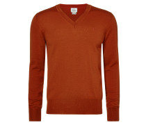 Orange Classic V-neck Jumper