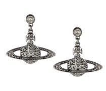 Mini Bas Drop Earrings Black Diamond