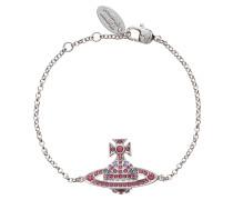 Jack Bas Relief Silver Tone Rose Bracelet