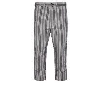 Cropped James Bond Trousers Light Grey Stripes - 44