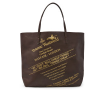 Anglomania Show Shopper Bag Dark Brown