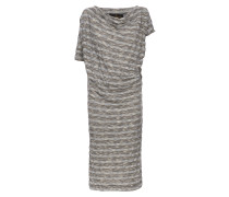 Anglomania Striped Draped Dress Blue