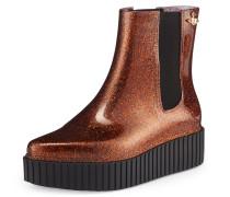 Anglomania Chelsea Boots AD Bronze/Black Glitter - 3