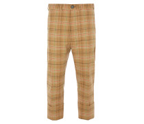 Cropped James Bond Trousers Camel Check