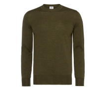 Green Classic Crew Neck Jumper