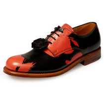Women's Grenson Black Red Absence Of Roses Derby Shoes