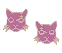Kat Earring Pink Gold Plated