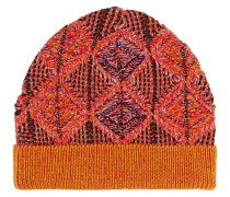 Vivienne Westwood Knitted Red Diamonds Beanie