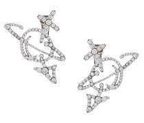 Unisex Orb Earrings Oxidised Silver