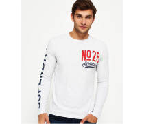 Herren No28 Athletics Langarm-T-Shirt hellgrau