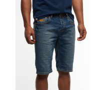 Herren Officer Slim Denim Shorts x Dunkelblau