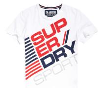 Herren Sports Diagonal T-Shirt weiß