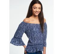 Damen Folk Dream Bluse blau