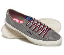 Damen Niedrige College Pro Luxe Sneaker hellgrau