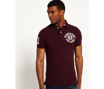 Herren Super State Piqué Polo-Shirt rot