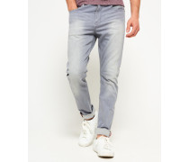 Herren Slim Low Rider Jeans grau