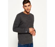 Herren Sweatshirt Store Embossed Crew Neck Top dunkelgrau