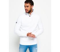 Herren Academy Henley-Pullover weiß