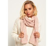 Damen Nebraska Schal mit Zopfmuster pink
