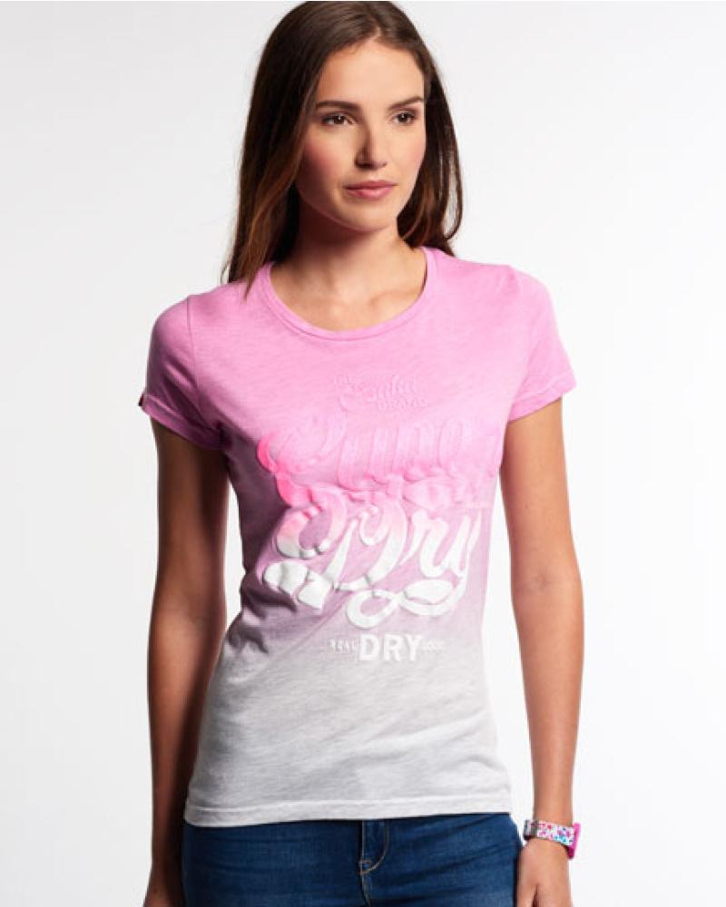 superdry damen superdry damen osaka brand t shirt rosa reduziert. Black Bedroom Furniture Sets. Home Design Ideas