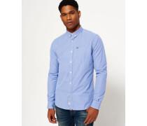 Herren London Button-Down Hemd blau