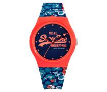 Damen Urban Floral Armbanduhr blau