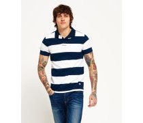 Herren Academy Rugby Polohemd marineblau