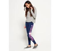 Damen Trackster Leggings marineblau
