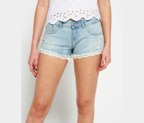 Damen Lace Hot Shorts blau