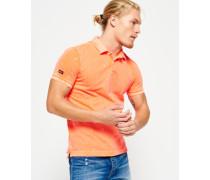 Herren Vintage Destroyed Bermuda Polohemd orange