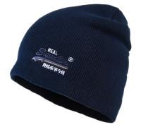 Basic Tonal Embroidery Beanie marineblau