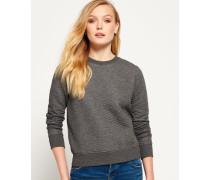 Damen Gestepptes Nordic Crew Sweatshirt dunkelgrau
