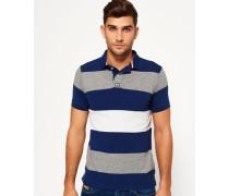 Herren Classic Hoop Stripe Polo-Shirt blau
