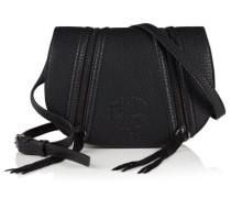 Damen Zipped Saddle Tasche schwarz