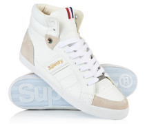 Herren Super Sleek High-Top Turnschuhe weiß