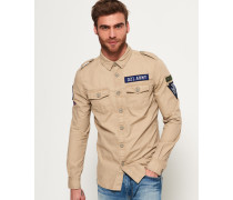 Herren Army Corps Lite Langarmhemd beige
