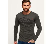 Herren Tonales Vintage Authentic Langarm-T-Shirt Grey