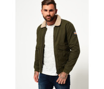 Herren Rookie Winter Bomberjacke im Fliegerstil grün