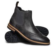 Herren Brad Brogue Pemium Chelsea Boots schwarz