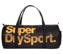 Herren Super Sport Gym Barrel Tasche schwarz