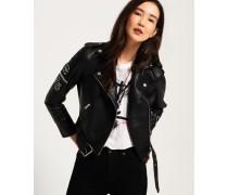 Damen Riot Bikerjacke schwarz
