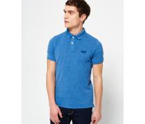Herren Vintage Destroyed Polo-Shirt blau