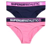 Damen Athletic Slips im Doppelpack marineblau