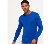Herren Rundhals-Sweatshirt aus Supima Baumwolle blau
