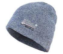 Basic Tonal Embroidery Beanie blau