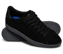 Herren Niedrige Sleek Tennis Premium Sneaker schwarz