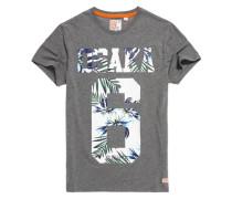 Herren Osaka Hibiscus T-Shirt grau