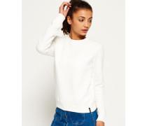 Damen Gestepptes Nordic Crew Sweatshirt weiß