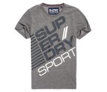 Herren Sports Diagonal T-Shirt dunkelgrau