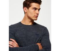 Herren Orange Label Pullover mit Rundhalsausschnitt grau